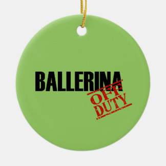 OFF DUTY Ballerina Double-Sided Ceramic Round Christmas Ornament