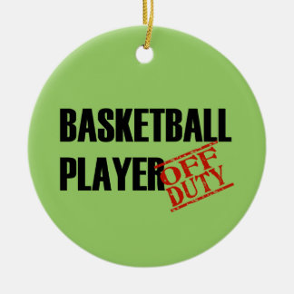 OFF DUTY Basketball Player Double-Sided Ceramic Round Christmas Ornament