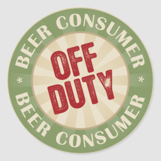Off Duty Beer Consumer Classic Round Sticker
