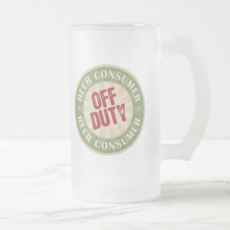 Off Duty Beer Consumer Frosted Glass Beer Mug