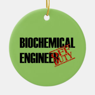 OFF DUTY Biochemical Engineer Double-Sided Ceramic Round Christmas Ornament