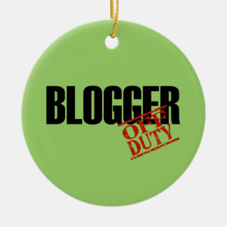 OFF DUTY Blogger Double-Sided Ceramic Round Christmas Ornament