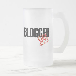 OFF DUTY BLOGGER FROSTED GLASS BEER MUG