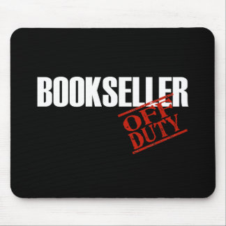 OFF DUTY BOOKSELLER DARK MOUSE PAD
