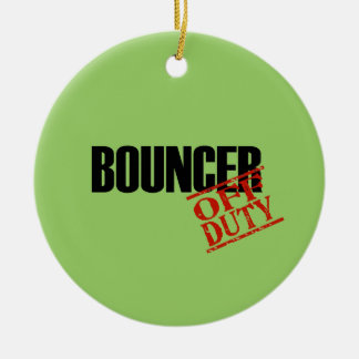 OFF DUTY Bouncer Double-Sided Ceramic Round Christmas Ornament