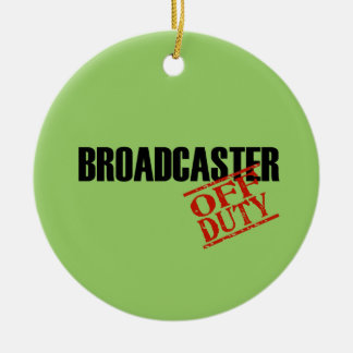 OFF DUTY Broadcaster Double-Sided Ceramic Round Christmas Ornament