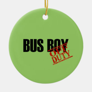 OFF DUTY Bus Boy Double-Sided Ceramic Round Christmas Ornament