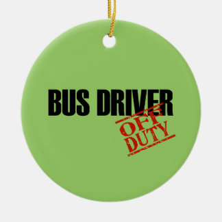 OFF DUTY Bus Driver Double-Sided Ceramic Round Christmas Ornament