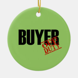 OFF DUTY Buyer Double-Sided Ceramic Round Christmas Ornament