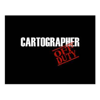 OFF DUTY CARTOGRAPHER DARK POSTCARD