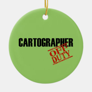 OFF DUTY Cartographer Double-Sided Ceramic Round Christmas Ornament