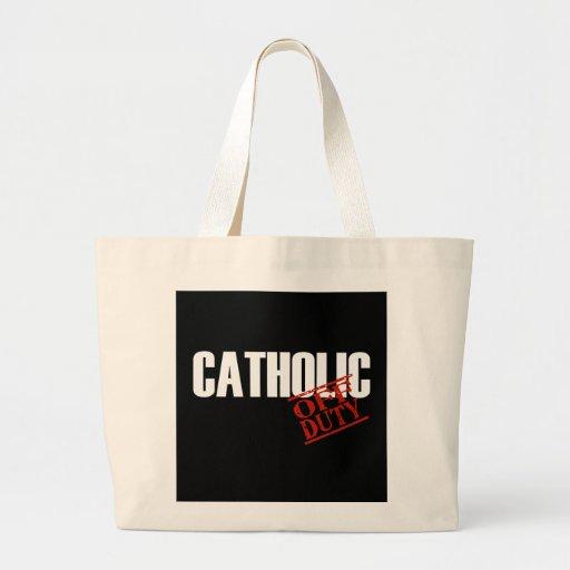 OFF DUTY CATHOLIC DARK TOTE BAG