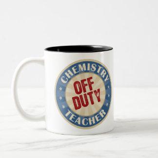 Off Duty Chemistry Teacher Two-Tone Coffee Mug