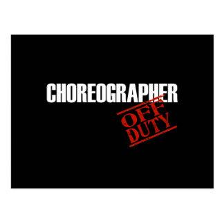 OFF DUTY CHOREOGRAPHER DARK POSTCARD