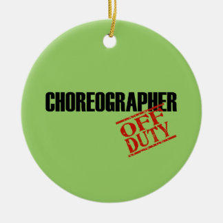 OFF DUTY Choreographer Double-Sided Ceramic Round Christmas Ornament