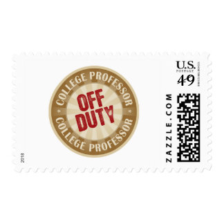 Off Duty College Professor Postage Stamps