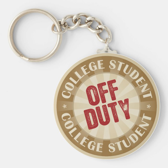 Off Duty College Student Keychain