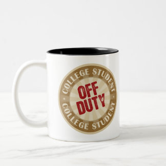 Off Duty College Student Two-Tone Coffee Mug