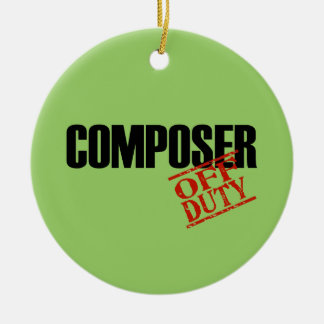 OFF DUTY Composer Double-Sided Ceramic Round Christmas Ornament