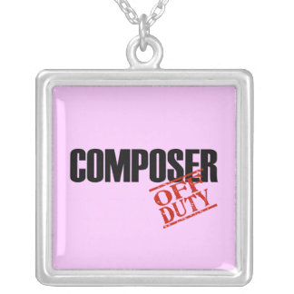 OFF DUTY Composer Square Pendant Necklace