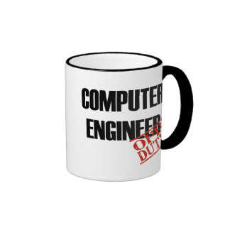 Off Duty Computer Engineer Ringer Coffee Mug