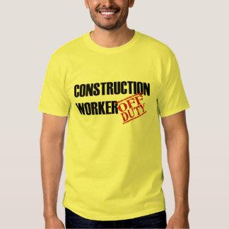 Off Duty Construction Worker Shirt