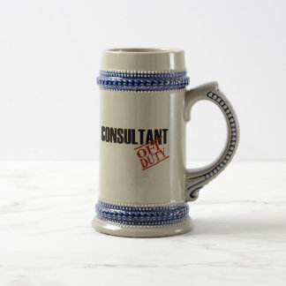 Off Duty Consultant 18 Oz Beer Stein