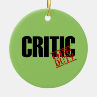 OFF DUTY Critic Double-Sided Ceramic Round Christmas Ornament