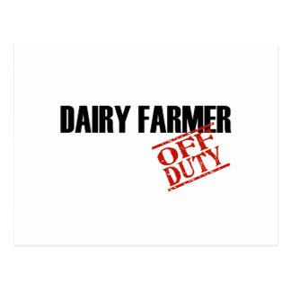 OFF DUTY DAIRY FARMER LIGHT POSTCARDS