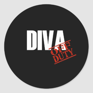OFF DUTY DIVA DARK STICKERS