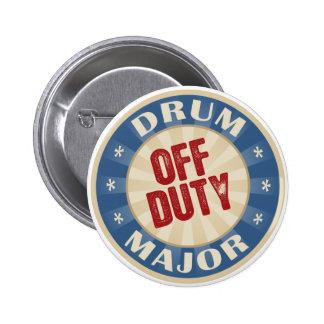 Off Duty Drum Major 2 Inch Round Button