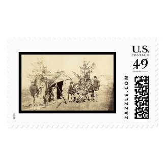 Off Duty Drummer Boys Playing Cards 1862 Postage
