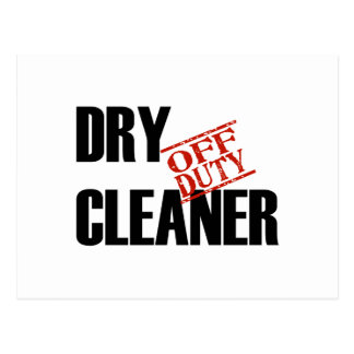 OFF DUTY DRY CLEANER LIGHT POSTCARD