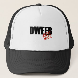 OFF DUTY DWEEB LIGHT TRUCKER HAT
