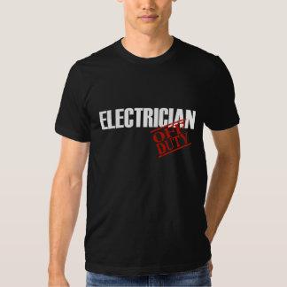 Off Duty Electrician Tshirt
