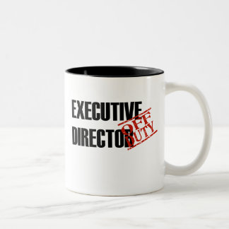 Off Duty Executive Director Two-Tone Coffee Mug