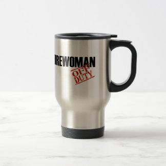 Off Duty Firewoman Travel Mug
