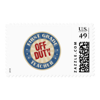 Off Duty First Grade Teacher Postage Stamps