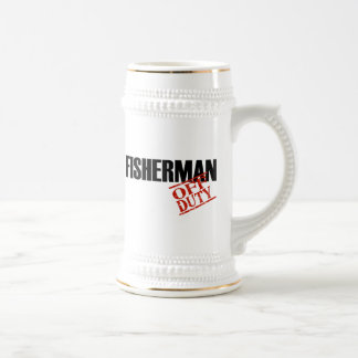 Off Duty Fisherman Beer Stein