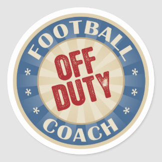 Off Duty Football Coach Round Sticker