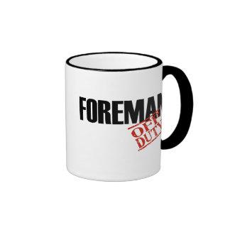 Off Duty Foreman Ringer Coffee Mug
