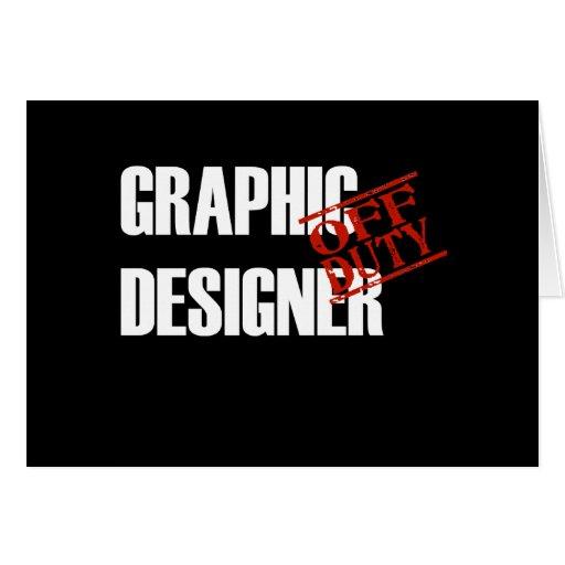 OFF DUTY GRAPHIC DESIGNER DARK CARD