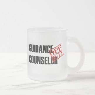 OFF DUTY GUIDANCE COUNSELOR FROSTED GLASS COFFEE MUG