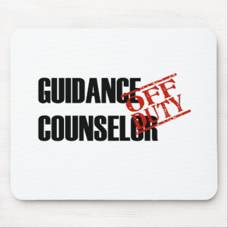 OFF DUTY GUIDANCE COUNSELOR LIGHT MOUSE PAD