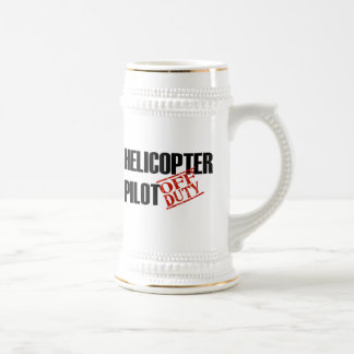 OFF DUTY HELICOPTER PILOT 18 OZ BEER STEIN