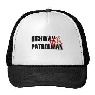 OFF DUTY HIGHWAY PATROLMAN LIGHT TRUCKER HAT