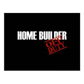 OFF DUTY HOME BUILDER DARK POSTCARD