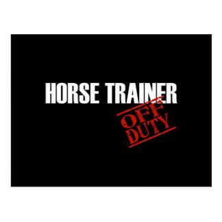 OFF DUTY HORSE TRAINER DARK POSTCARD