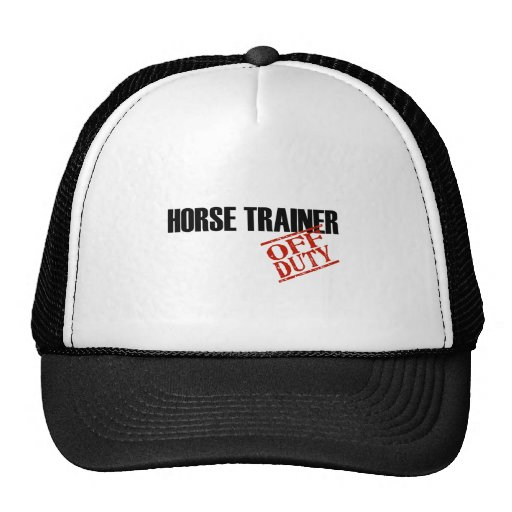 OFF DUTY HORSE TRAINER LIGHT TRUCKER HAT
