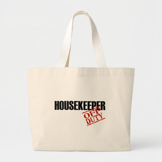 OFF DUTY HOUSEKEEPER LIGHT LARGE TOTE BAG